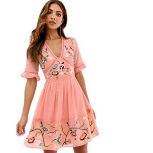 ASOS Floral Embroidered Dress